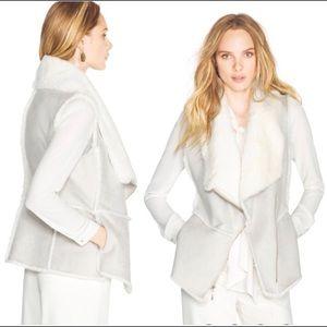 White House Black Market Shearling Faux Fur Vest L